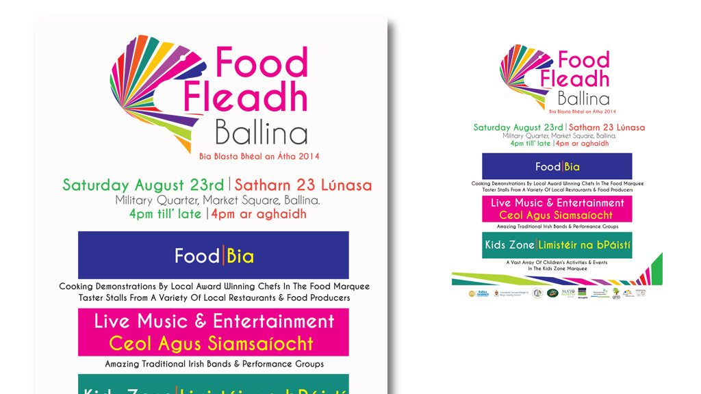 food-fleadh-advert-print-design-mayo-ireland-darkblue-ballina