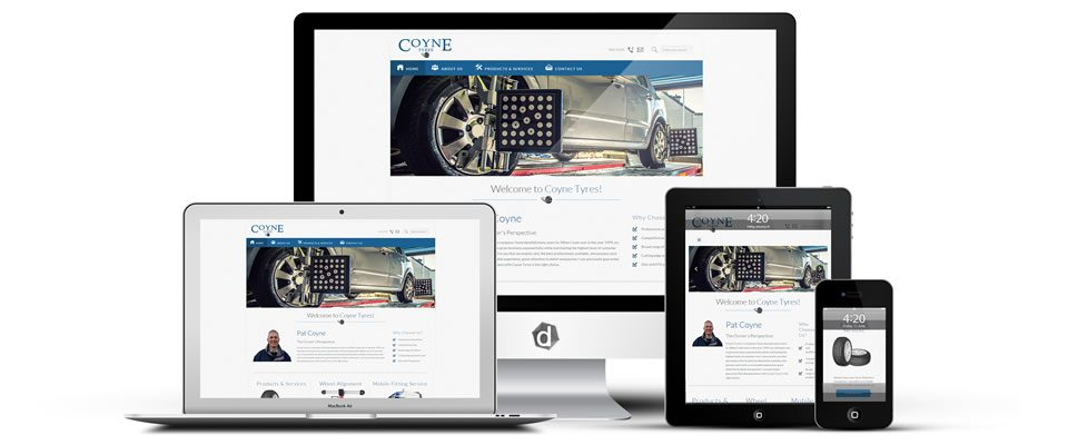 web-design-mayo-ireland-darkblue-ballina-coyne-tyres-banner-ireland