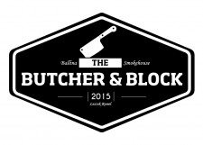 the-butcher-and-block-logo-design-ballina-mayo-darkblue-design