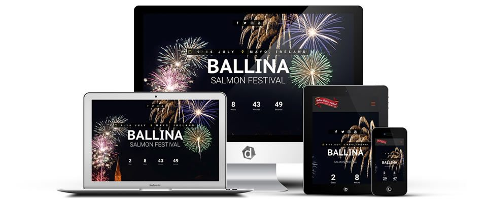 ballina salmon festival - website design mayo - darkblue design