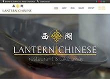 the lantern chinese restaurant and takeaway - web design mayo - darkblue design - 1
