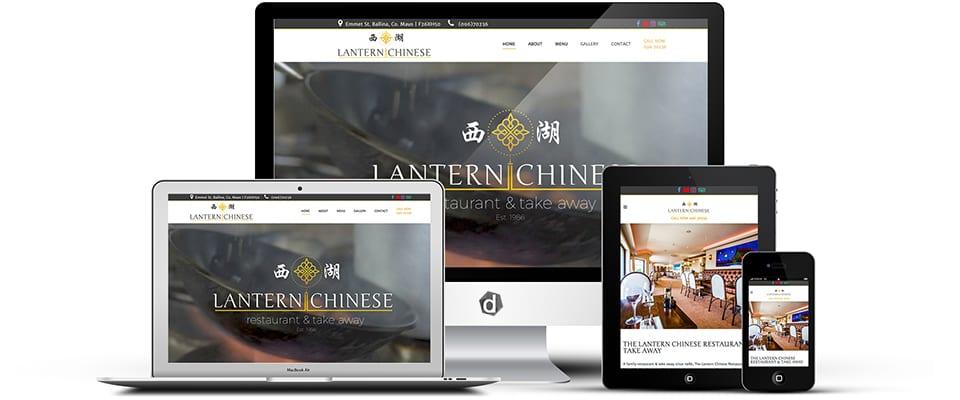 the lantern chinese restaurant and takeaway - web design mayo - darkblue design